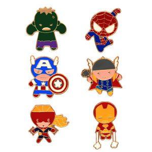 Avengers : Characters Enamel Pin Set