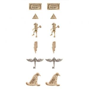 Harry Potter : Dobby and Snitch Earrings (Set of 6)